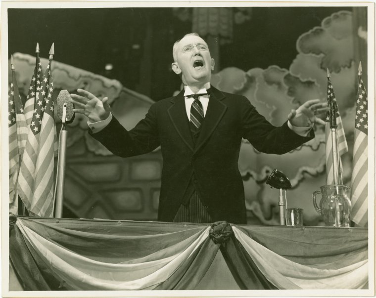 George M. Cohan as Franklin D. Roosevelt, Photo by Vandamm Studio, © New York Public Library