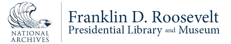 Franklin D. Roosevelt Presidential Library and Museum logo paired with National Archives and Records Administration logl